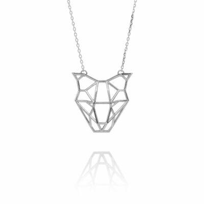 SEB Dog Silver Necklace Icelandic Fashion Jewellery Design Geometric Domestic Animal Jewelry