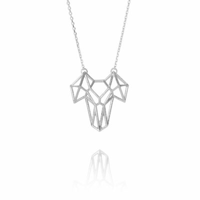 SEB Ram Silver Necklace Icelandic Fashion Jewellery Design Geometric