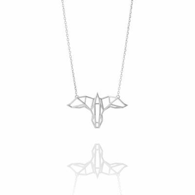 SEB Raven Silver Necklace Icelandic Fashion Jewellery Design Geometric Scandinavian Mysterious Nordic Mytholog