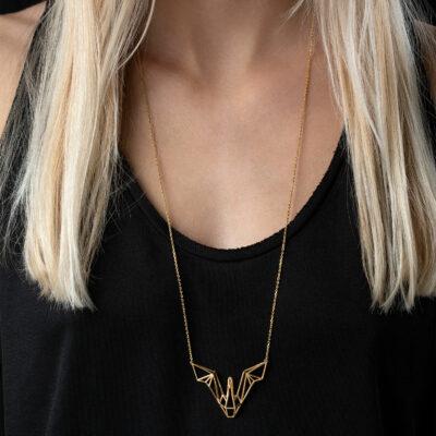 SEB Swan Wings Gold Silver Necklace Icelandic Fashion Jewellery Design Geometric Scandinavian Love