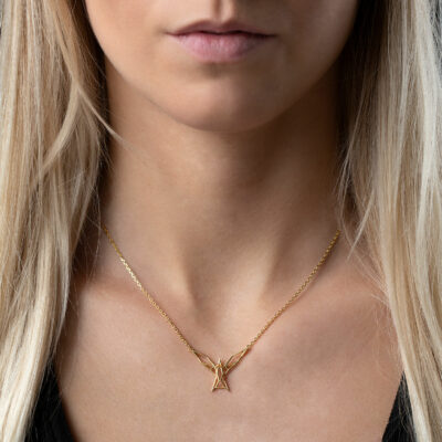 SEB Arctic Tern Wings Bird Gold Silver Necklace Icelandic Fashion Jewellery Design Geometric Scandinavian